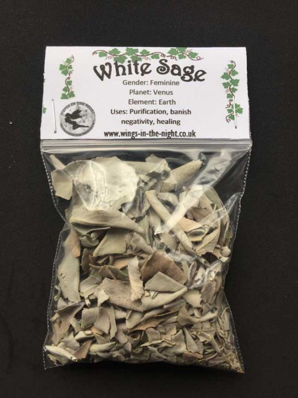 WHITE SAGE Dried Herb (Crushed)